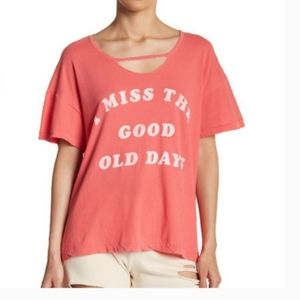 Wildfox I MISS THE GOOD OLD DAYS Tee Shirt Small S